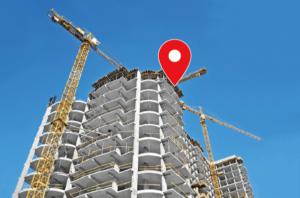 建設現場の作業位置を特定
